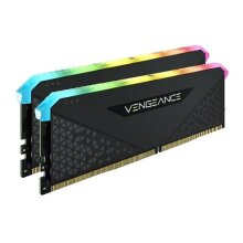Corsair Vengeance RGB RS 32GB Memory Kit (2 x 16GB), DDR4, 3200MHz (PC4-25600), CL16, XMP 2.0, 6 LEDs, Black