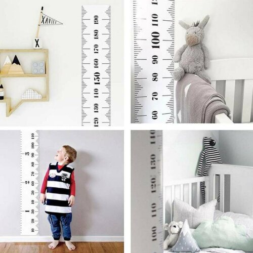 Wooden Kids Growth Height Chart Ruler Children Wall Hanging Measure Decor
