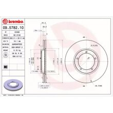 Front Pair (2x) of Brake Disc BREMBO 09.5782.10