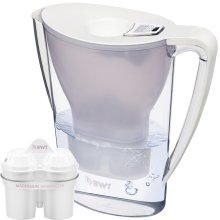 BWT Water Filter Jug 2.7L White with 1 x Magnesium Mg2+ Longlife 120L Cartridge