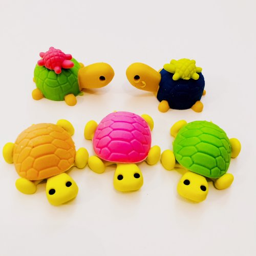 Animals Birds Dogs Cats Fish Sealife Puzzle Erasers Novelty Fun Kids Rubbers Party Gift Bag Fillers Tortoise Set Design 1