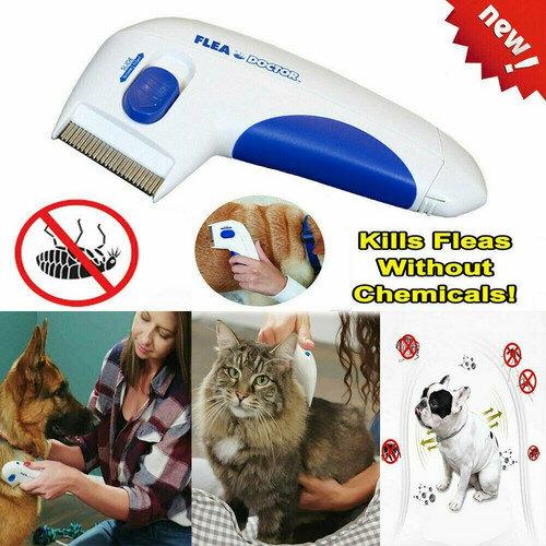 Flea Electric Pet Cat Dog Safe Flea Comb Kills Fleas Pet