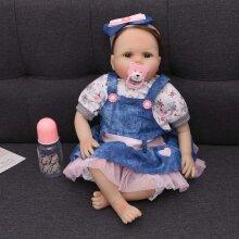 "22"" Reborn Dolls Real Life Soft Silicone Vinyl Handmade Realistic"