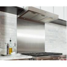 Satin Stainless Steel Splashback for Cooker Hobs