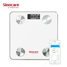 Sinocare Body Fat Scale - Measure 12 Body Data - With Bluetooth APP