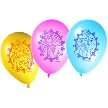 Unique Party 71645 - 11' Latex Glamour Disney Princess Balloons, Pack of 8