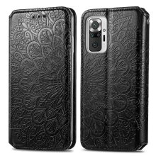 Xiaomi Redmi Note 10 Pro Case Flip Wallet Cover TPU Magnetic Black