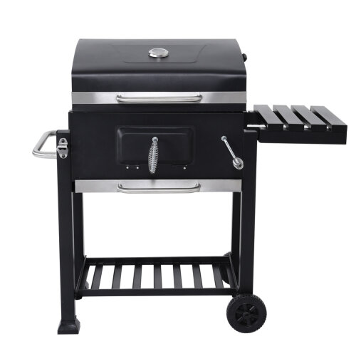BBQ Trolley Cart Smoked Grill Garden Barbeque Fire Pit Charcoal Stove with Wheel