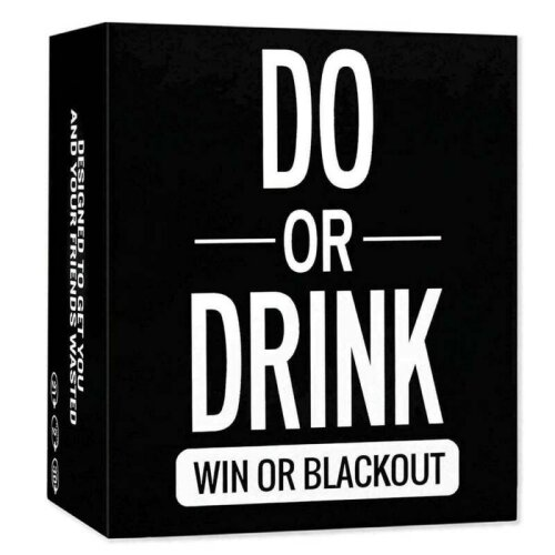 Do or Drink - Adults Drinking Card Game - Fun & Dirty Party - Dare or Shots