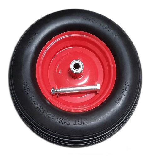 Wheelbarrow Wheel Tyre PU Foam Puncture Proof Spare Rubber Axle Rim