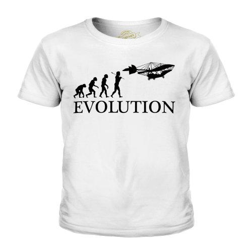 Candymix - Vintage Plane Evolution Of Man - Unisex Kid's T-Shirt