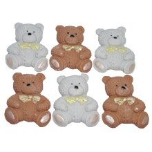 6 Baby Teddys Baby Shower Cupcake Topper Cake Decoration