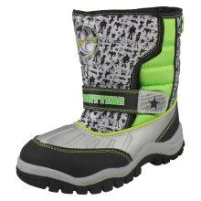 Boys Disney Buzz Lightyear Snow Boots - Silver/Black/Green Synthetic - UK Size 12 - EU Size 30 - US Size 13