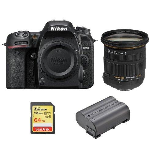 NIKON D7500+SIGMA 17-50MM F2.8+SanDisk Extreme 64G SD+EN-EL15A