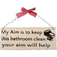 My Aim Hanging Sign