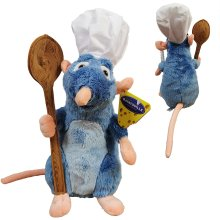 "Disney Ratatouille - Remy plush, with chef's hat and spoon 12'63 ""/ 33cm Super soft quality"