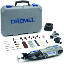 Dremel 8220 Cordless Rotary Tool 12V, Rotary Multi Tool Kit with 2 Attachments 45 Accessories, Front LED Light, Variable Speed 5000-35000rpm for Cutti