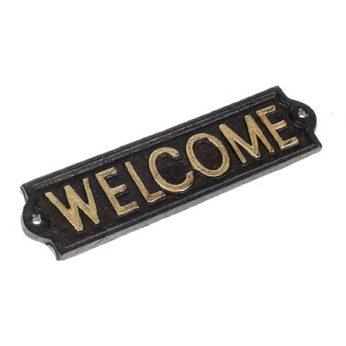 Cast Iron Wall Mounted Welcome Plaque