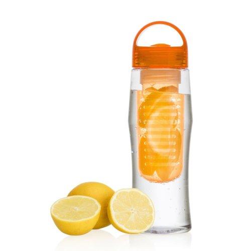 Vinsani Fruit Fuzer Water Bottle Fruit Infusion Infuser Aqua Hydration - Orange