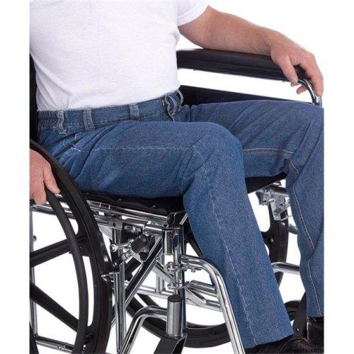 Silverts 410500109 Mens Wheelchair Jeans - Quality Soft Denim for Wheelchair Fashion & Comfort, Denim - Size 44