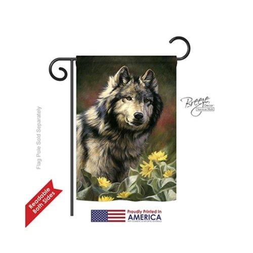 Breeze Decor 60083 Pets Wild Spirit 2-Sided Impression Garden Flag - 13 x 18.5 in.