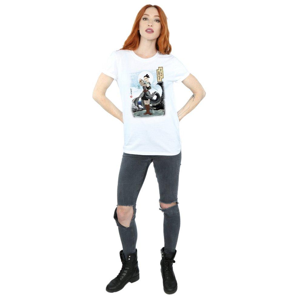 Star Wars Womens The Last Jedi Japanese Rey T-Shirt