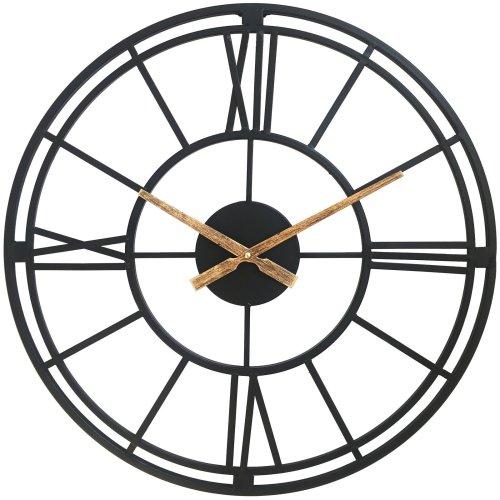 House of Durante The Cambridge Skeleton Wall Clock 56cm Black In/Outdoor