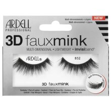 Ardell 3D Faux Mink Multi Dimensional Eyelashes - Black 852 - Invisible Band