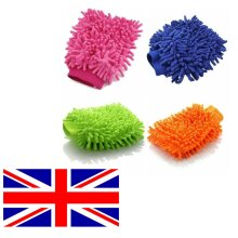Microfibre Wash Mitt Cleaning Cars Windows Home Polishing & Dusting UK Seller