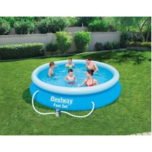 Bestway Inflatable 12ft Fast Set Family Paddling Swimming Pool Filter Pump 57274