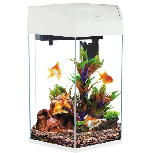 Fish R Fun, Hexagonal Fish Tank 21.6L White