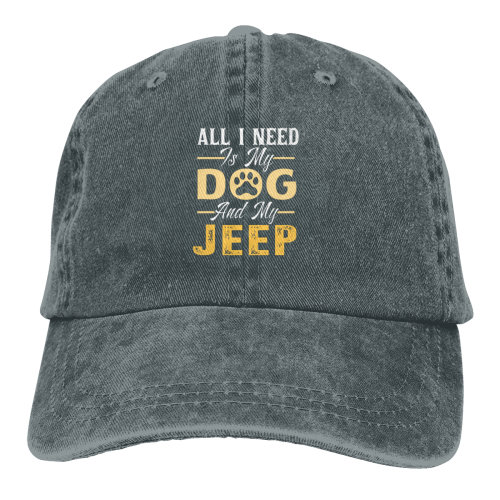 All I Need Is My Dog And My Jeep Denim Baseball Caps