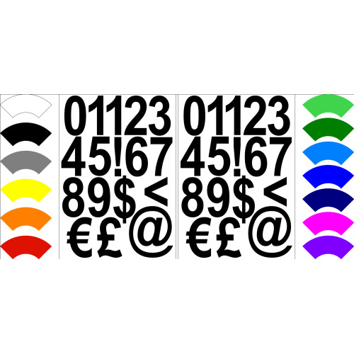 Numbers Stickers Label Self Adhesive Peel Off Sticky 5cm High