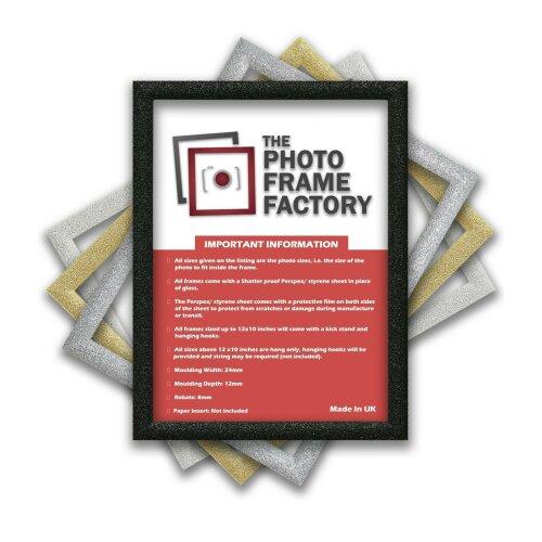 Glitter Sparkle Picture Photo Frames, Black Picture Frames, White Photo Frames All UK Sizes