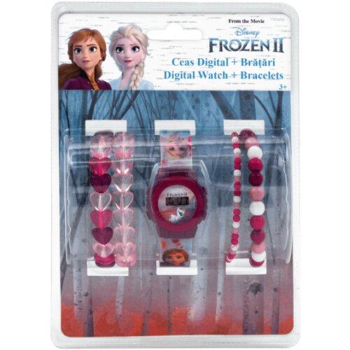 watch & bracelet set girls 15 cm PVC pink 5-piece