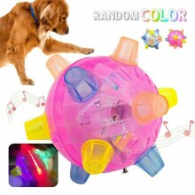 Pet Toys Jumping Activation Ball LED Jump Dance Ball Toy Light