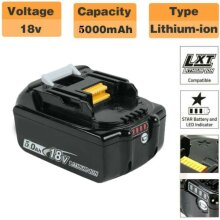 For Makita BL1850 18v 5.0ah LXT Li-ion Battery with LED Indictor