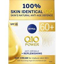 Nivea Q10 Power 60+ Skin Anti-Wrinkle + Replenishing Day Cream (50 ml), Powerful Anti Ageing Cream, Moisturiser for Women with Coenzyme Q10, Day Face