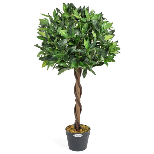 (90cm) Artificial Bay Tree Large Potted Indoor Outdoor Topiary Decoration 3ft 4ft