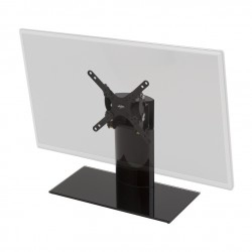 "King Tilt & Swivel Table Top Replacement Pedestal TV Base Stand for up to 32"" inch"