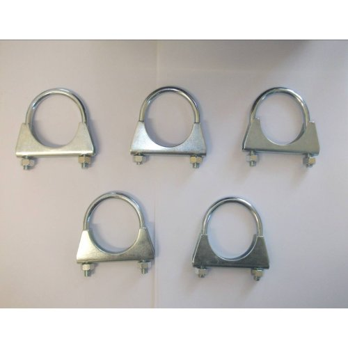 2 3//4 Pack of 5 Zinc Plated Hose TV Clamps. Innovo Exhaust U Hose Clamps 70mm