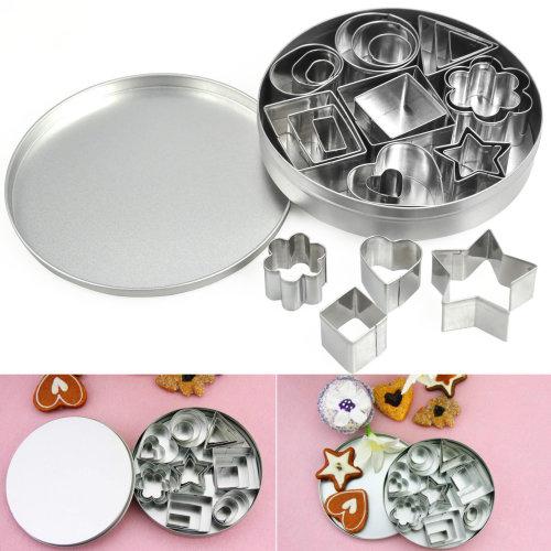TRIXES 24PC Steel Shape Cutter Mould Set With 8 Designs …