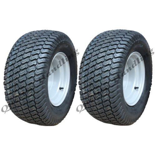 20x10.00-10 tyre on rim, atv trailer wheel 100mm PCD rim - set of 2