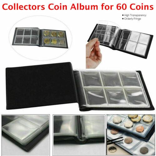 60 Pocket 50P Coin Collection Storage Album Book Holder