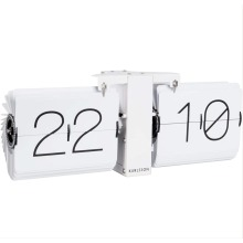Flip Clock, No Case, White