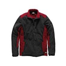 Dickies JW7011 RD/BK L Two Tone Micro Fleece Red / Black - L 41-43in