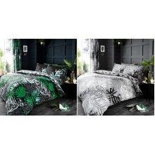 Dark Tropical Duvet Cover Bedding Set
