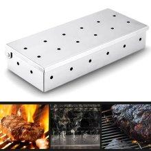 Barbecue BBQ Stainless Steel Box Smoking Wood Chip Smoker Kitchen