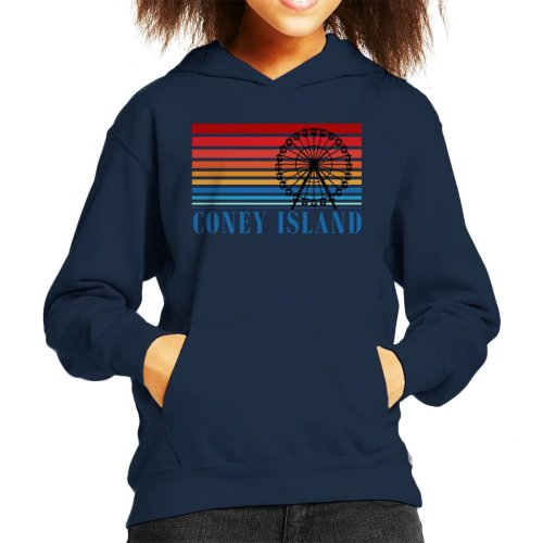 Coney Island Ferris Wheel Retro 70s Kid's Hooded Sweatshirt