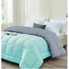 (Double) 13.5 tog Box Stitched Reversible Coverless Polycotton Duvet Single Double King